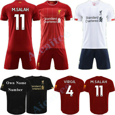 19-20 Soccer Home Away Kit Suits Jersey Strip Kids/Adults Outfits Shirt Shorts