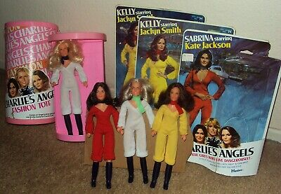 CHARLIE'S ANGELS Hasbro FASHION TOTE Dolls CHERYL LADD Kate FARRAH Jaclyn Smith