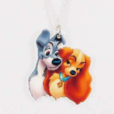 LADY AND THE TRAMP NECKLACE disney dog puppy cute girls gift vintage