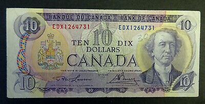 1971  $10 Bank of Canada Banknote, EDX, Signatures, Lawson/Bouey, Very Rare