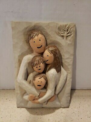 "Susan Lordi, Willow Tree ""Family"" plaque, A Lifetime Of Love. 4x6No box."
