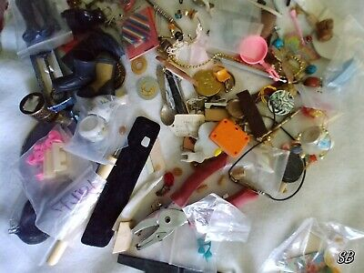2+ pounds LOT of Actual Junk Drawer Stuff Tools Jewelry Vtg Kinder Barbie shoes