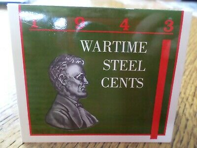 1943 Wartime Lincoln Steel Wheat Cent Year Set
