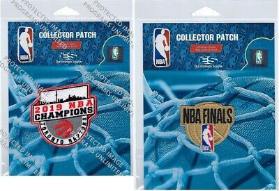 2019 Nba Finals Jersey Patch & Toronto Raptors Champions Edition Patch Set Of 2