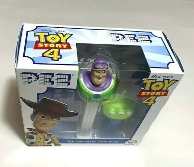 PEZ Gift Set Buzz Lightyear & Green Alien Disney Pixar Toy Store 4 NEW