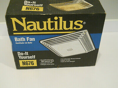Nautilis Bath Fan Do It Youself N676 up to 100 Sq. Ft. Space / New