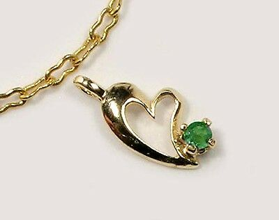 Antique 19thC Natural Handcrafted Russian Alexandrite 14kt Gold Heart Pendant