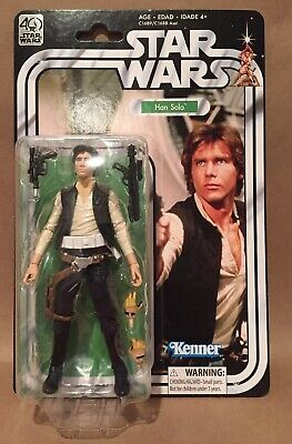 "Star Wars 6"" The Black Series 40Th Anniversary Han Solo Brand New Factory Sealed"