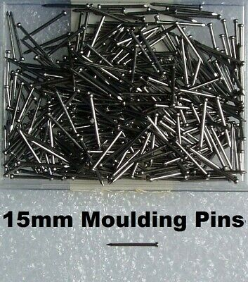 "100 x MOULDING PINS 5/8"" 15mm Bright Steel Nails - 5/8"" inch 15mm Veneer Beads"