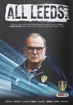 Leeds United v Derby County 2018/19 Play Off brand new football programme