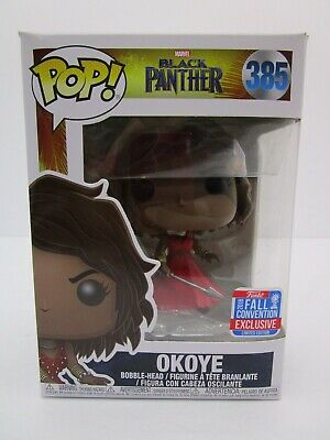 Funko Pop Okoye Wig Black Panther 385 Fall Convention Exclusive Marvel Bobble