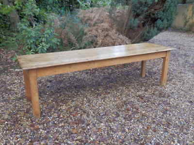 Large Pine Dining Refectory Table, Victorian, antique, 9ft, very solid, seats 10
