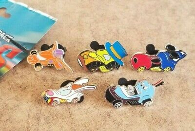 Disney Trading Pins Lot of 5 from Racers Pack Baymax Genie Mickey Roger Jiminy