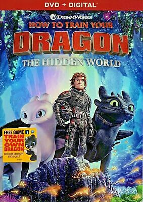 HOW TO TRAIN YOUR DRAGON Hidden World DVD + DIGITAL New Sealed USA FREE SHIPPING