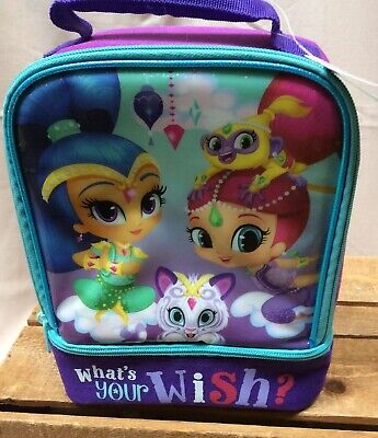 Shimmer & Shine Nickelodeon Lunch Tote Girls Insulated Dual Box NWT Bag Purple