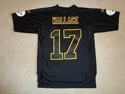 64761c422000a5 Rare Sewn Reebok NFL Pittsburgh Steelers Mike Wallace Football Jersey -  Size M