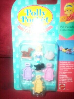 1994 Vintage Polly Pocket Li'l Pet Carts Pet Parade Collection NEVER Opened NEW