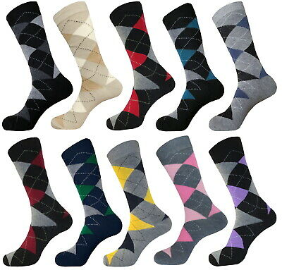 One Pair Argyle Socks Groomsmen Best Man Cotton Wedding Dress Socks Size 10-13