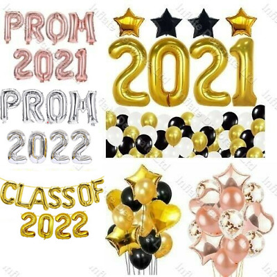 PROM 2019 Foil Letter Balloon Party Graduations High School Rose Gold Silver 16""