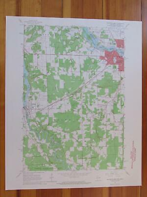 Marinette West Wisconsin 1964 Original Vintage USGS Topo Map