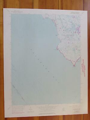 Fortescue New Jersey 1972 Original Vintage USGS Topo Map