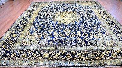 Circa 1930's Vintage Persian 10'X12' Handknotted100% Wool Pile Rug
