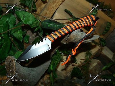 3/Knife/Blade/Spear/Harpoon/Paracord survival wrap/Full tang/440SS/Hunting/SET