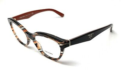 d5d6ae9a89b8 New Prada Vpr 11R Van-1O1 Orange / Grey Women's Authentic Eyeglasses Frame  50-