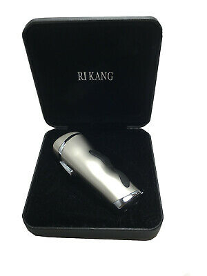 RI KANG Triple Jet Torch Lighter Butane Refillable Windproof Flame w/ Cigar Punc