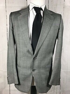 Silk 130-2 Charcoal 36R Clearance DTI Executive $1598 Mens Suit 2 Button Wool