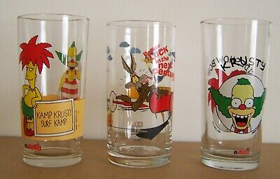 Nutella - Simpsons And Ixl Glasses Set Of 3.