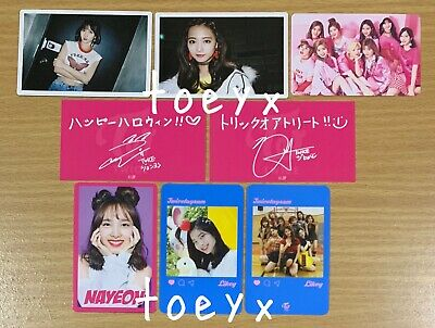 Twice Official Photocard Character / Pop-Up Store Likey Nayeon Sana Mina Tzuyu