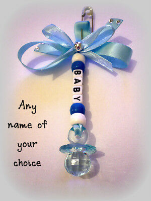 Personalised Pram Charm for Baby Boy. *Babies NAME*