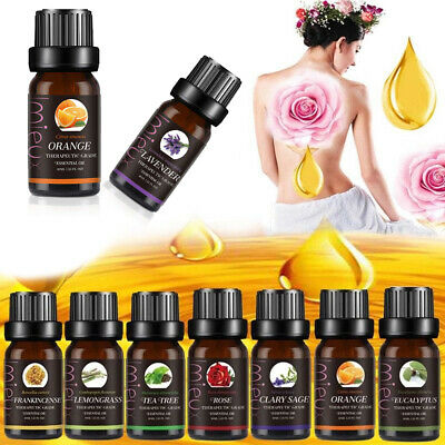 Aromatherapy Essential Oils 100% Natural Pure 10ml Essential Oil Fragrances New
