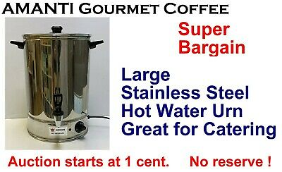 SUPER BARGAIN Large 20L Catering Stainless Steel Hot Water Urn + Bonus AMANTI