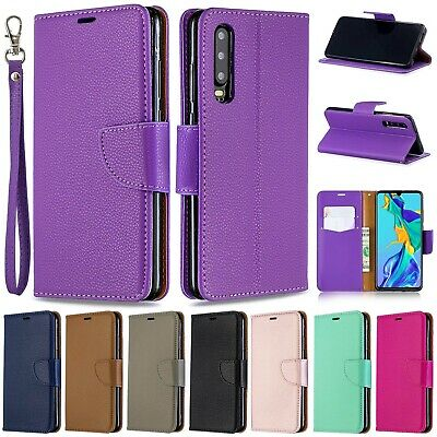 For Huawei Y5 Y6 Y7 2019 Retro Magnet Leather Flip Wallet Stand Strap Case Cover
