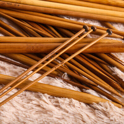 18-Sizes Single Pointed Carbonized Bamboo Knitting Needles  Crafts 25cm-36cm