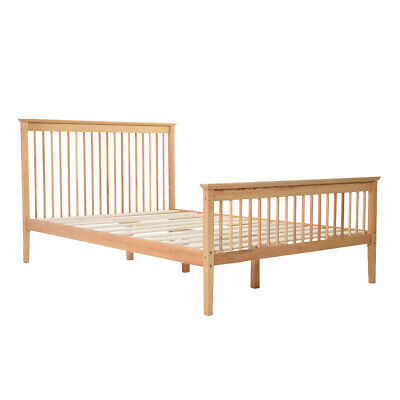 Wooden Small Double Bed Frame 4FT Pine Solid Pine Bedstead With Slats Bedroom UK