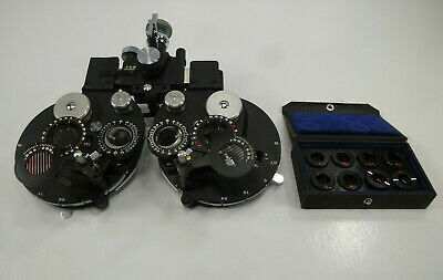 Bausch & Lomb Optical Greens Phoropter w/ B&L Minus Auxiliary Cylinder Set