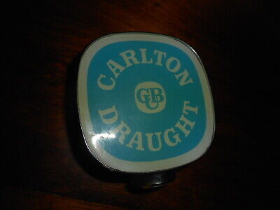 Carlton Draught beer tap head badge