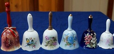 6 CHINA BELLS - ASSORTED - BIRDS - FLOWERS - Free Bell