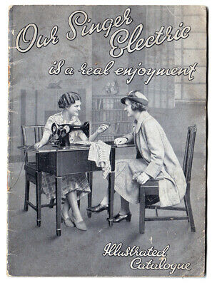 Vintage Singer sewing machine illustrated catalogue