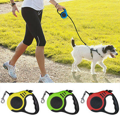 5m 3m Leash Heavy Duty Automatic Retractable Traction Rope Lead Walking Dog Pet