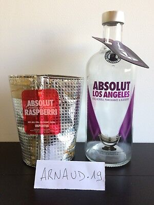 LOT Absolut Vodka Los Angeles with tag bottle + raspberri coolpack