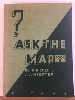 Ask The Map Book 2, Rare Vintage Cartography Book, 1938, Pitman And Sons