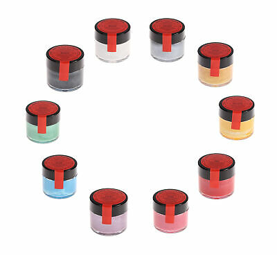 10 x Sugarflair Edible Giltter Paint Food Colour For Cake Sugarcraft Decorating