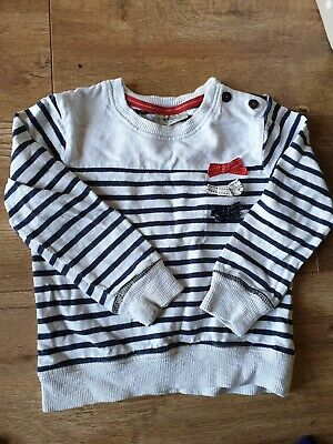 Girls white and blue striped Next Top / Jumper Age 2-3 Years casual / children