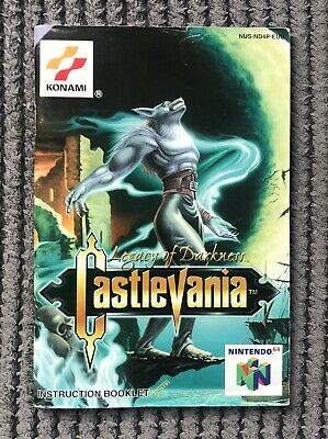 N64 Castlevania Legacy of Darkness MANUAL ONLY - RARE Nintendo 64 Game FAST POST