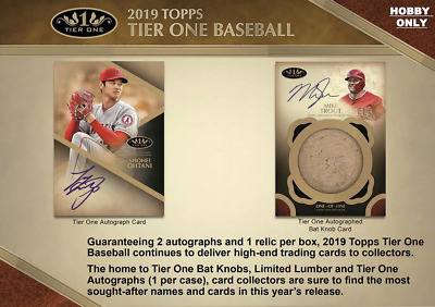 2019 Topps Tier One Baseball Live Pick Your Player (Pyp) 1 Box Break #3