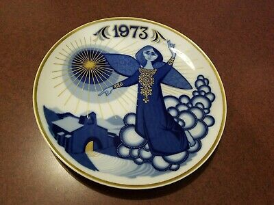 Vintage SANTA CLARA Porcelana Maria Mendez Decorative Angel 1973 Plate - Spain